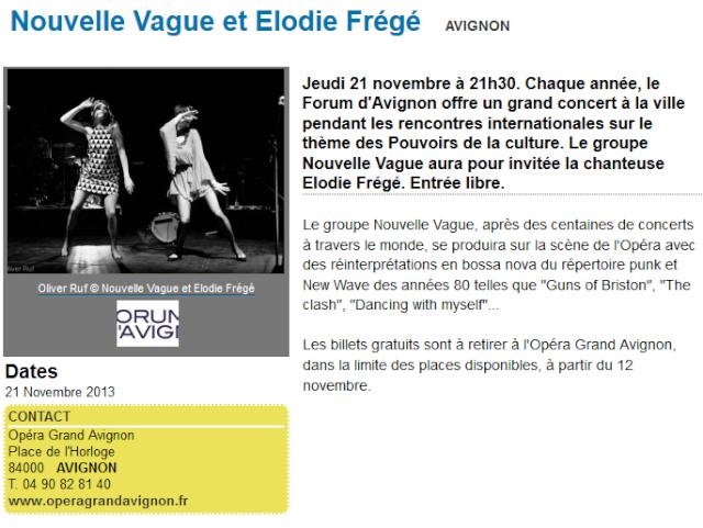 """Concert """"Nouvelle Vague"""" à l'Opéra Théâtre d'Avignon (21 nov 2013) 120"""