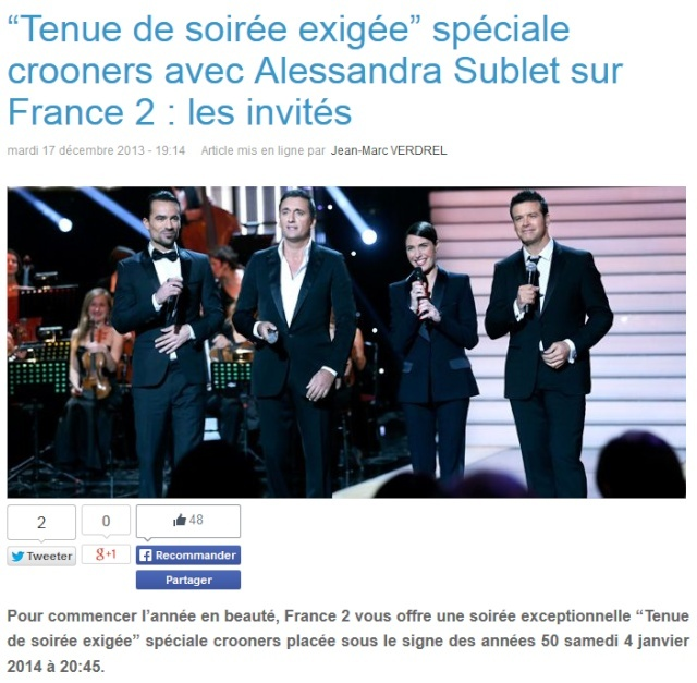 """""""Tenue de soirée exigée"""" sur France 2 (04 janvier 2014 à 20h45) 135"""