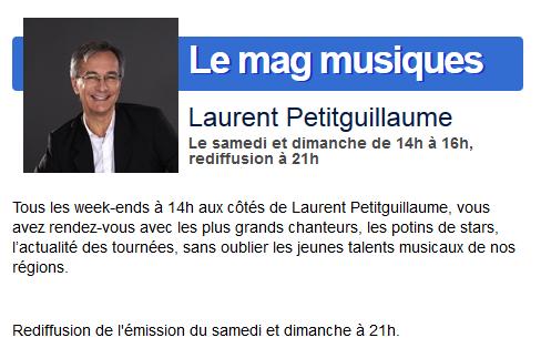 """""""Le Mag Musiques"""" sur France Bleu (15 février 2014 de 14 à 16h) 227"""