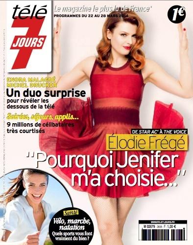 """Elodie Frégé : """"Pourquoi Jenifer m'a choisie"""",  Télé 7 Jours (17 mars 14) Bind0a10"""