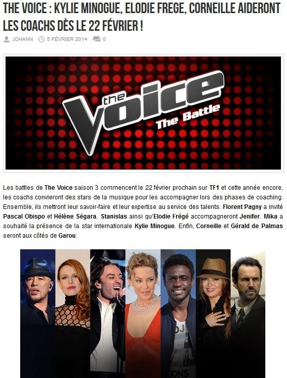 Elodie co-coach de Jenifer dans The Voice (dés le 22 février 2014) Ellloo10