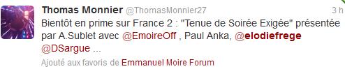 """""""Tenue de soirée exigée"""" sur France 2 (04 janvier 2014 à 20h45) Elo39"""