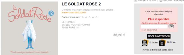 """Concerts """"Le Soldat Rose 2"""" au Trianon de Paris (05 février 2014) Elo49"""