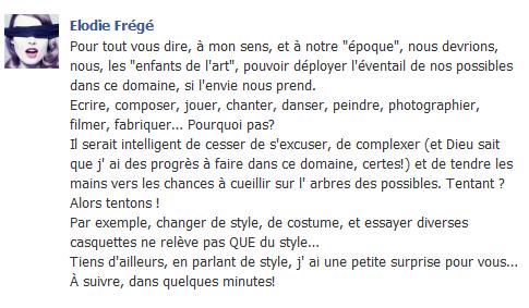 Messages d'Elodie Frégé sur Facebook (de Août 2013 à Avril 2014) Elo55
