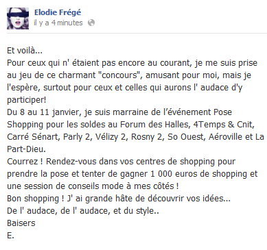 Messages d'Elodie Frégé sur Facebook (de Août 2013 à Avril 2014) Elo56