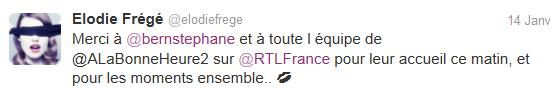 """""""A la bonne heure"""" sur RTL (14 janvier 2014 à 11h) Elo63"""