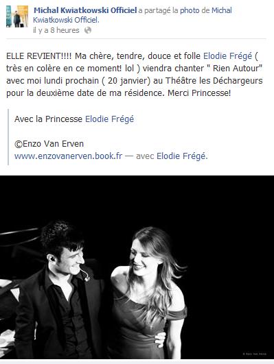 """Elodie invitée de Michal au Théâtre """"Les déchargeurs (20 jan 2014) Elo64"""