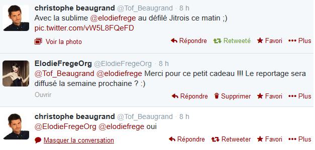 """Elodie Frégé dans """"50mn Inside"""" sur TF1 (08 mars 2014 à 18h45) Elo76"""