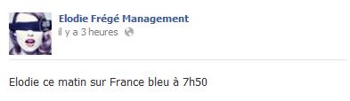 """Elodie Frégé chez """"Bill Debruge"""" sur France Bleu (04 mars 2013 à 07h50) Elo79"""