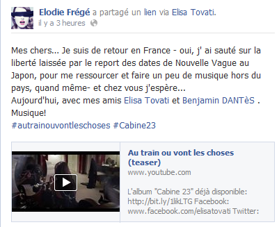 Messages d'Elodie Frégé sur Facebook (de Août 2013 à Avril 2014) Elo90