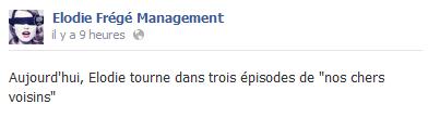 """Elodie Frégé dans """"Nos Chers Voisins"""" sur TF1 (A venir) Elo92"""