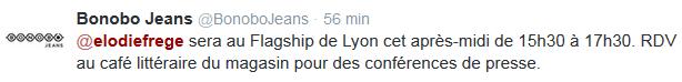 Elodie Frégé au Flagship de Lyon (22 avril 2014 de 15h30 à 17h30) Elo94