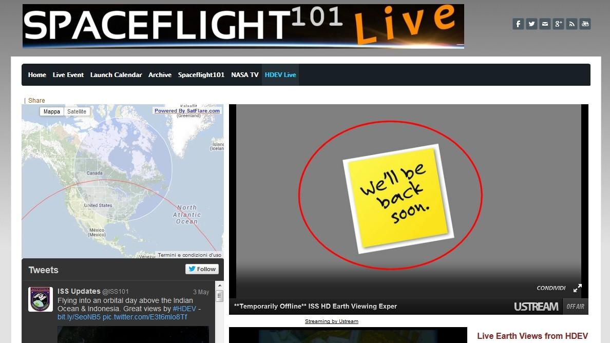 HDEV - Immagini live dalla ISS in HD Backso10