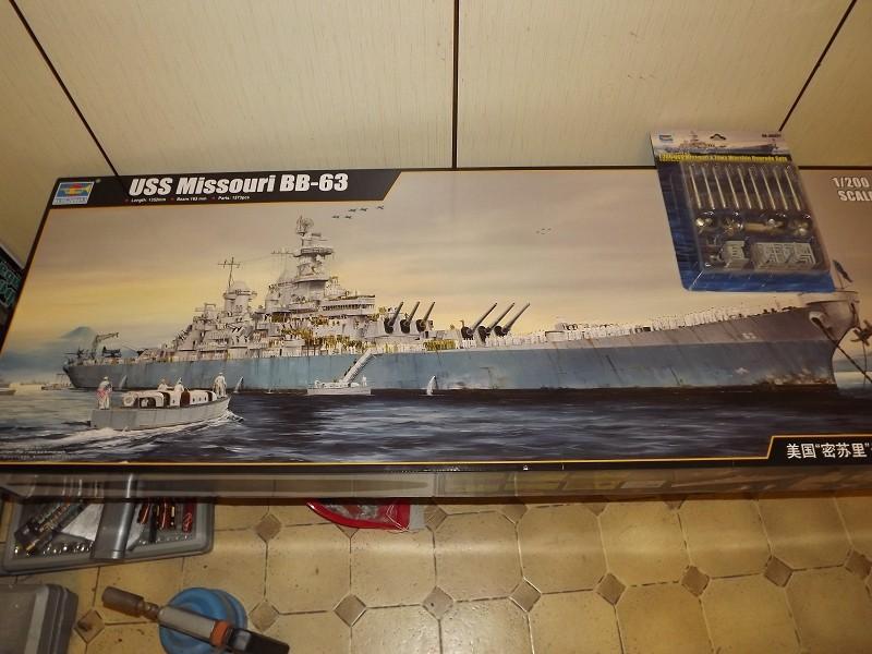 BB - 63 USS Missouri von Trumpeter in 1/200 K-dsc146