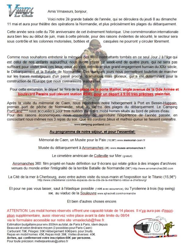 LES PLAGES DU DEBARQUEMENT les 8-9-10-11 MAI 2014 Annonc10