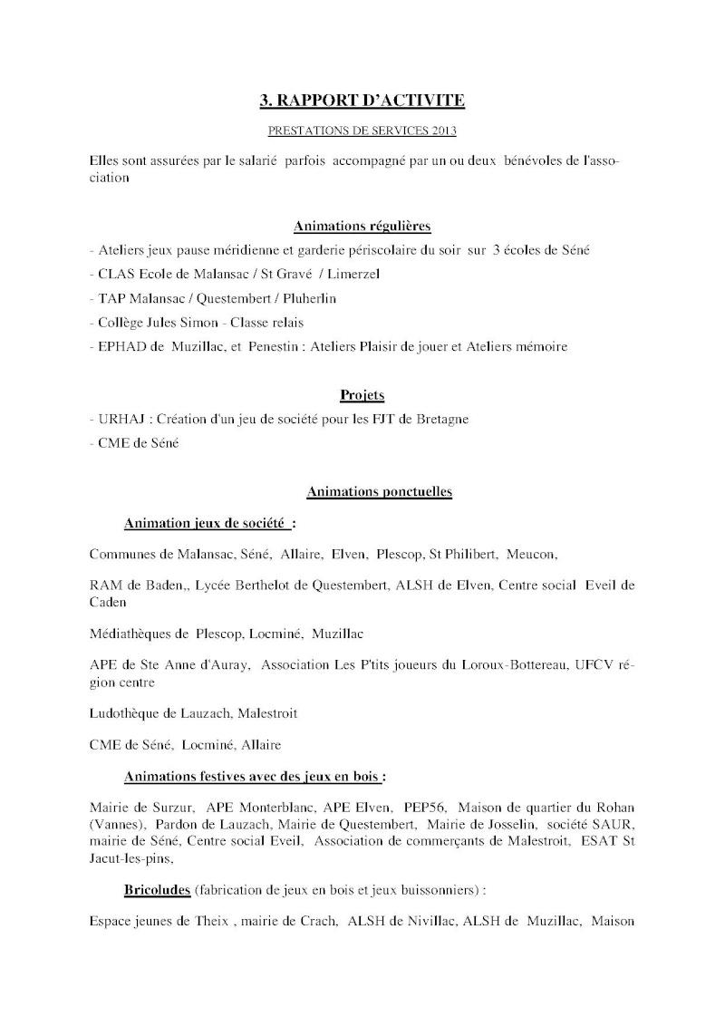 Compte-rendu Assemblée générale ordinaire du 15 Décembre 2013 Compte14