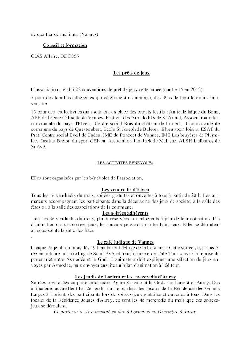 Compte-rendu Assemblée générale ordinaire du 15 Décembre 2013 Compte15