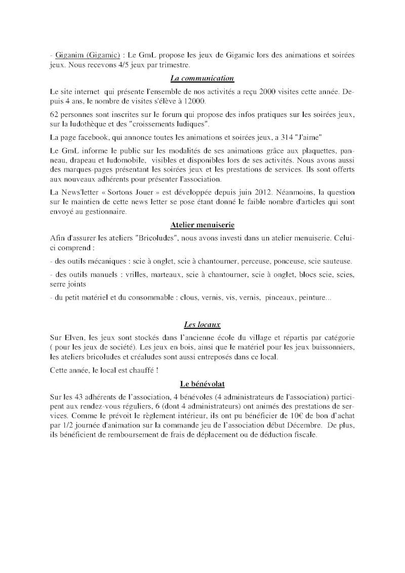 Compte-rendu Assemblée générale ordinaire du 15 Décembre 2013 Compte17