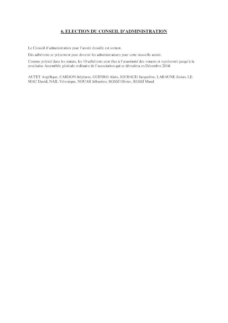 Compte-rendu Assemblée générale ordinaire du 15 Décembre 2013 Compte19