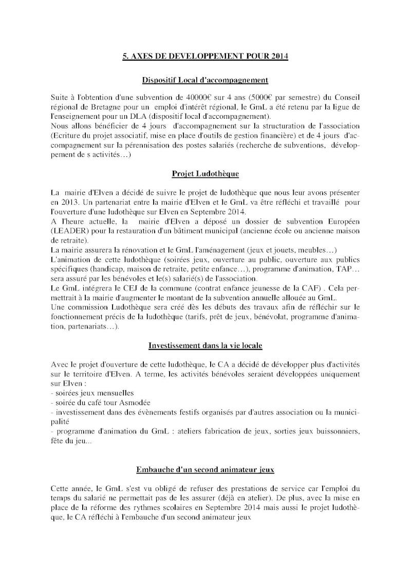 Compte-rendu Assemblée générale ordinaire du 15 Décembre 2013 Compte20