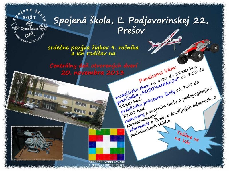 Predvádzacia akcia na spojenej škole v Prešove (Sekčov) Letak_10