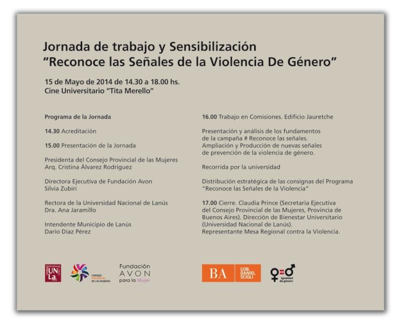 """Jornada contra la violencia de género """"Reconoce las señales"""" 00177"""