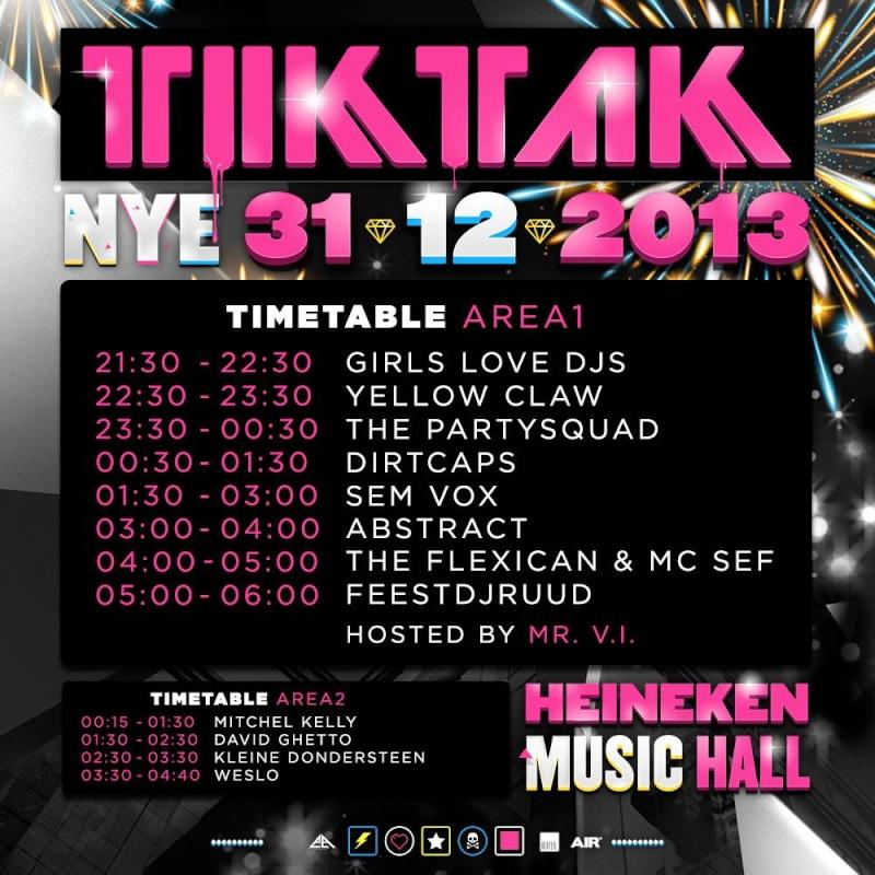 [ TIK TAK NYE - 31 Décembre 2013 - Heineken Music Hall - Amsterdam - NL ] - Page 2 15074010