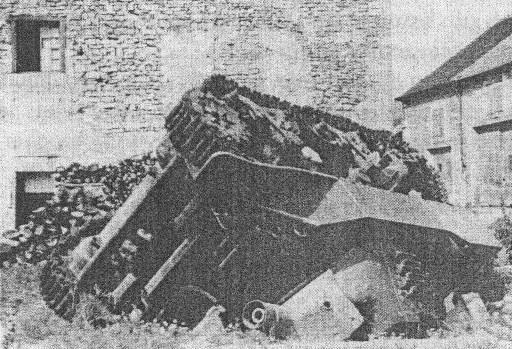 la bataille d'Andelot 11 12 septembre 1944. les allemands dans l'enfer de la 2 ème DB Char_e10