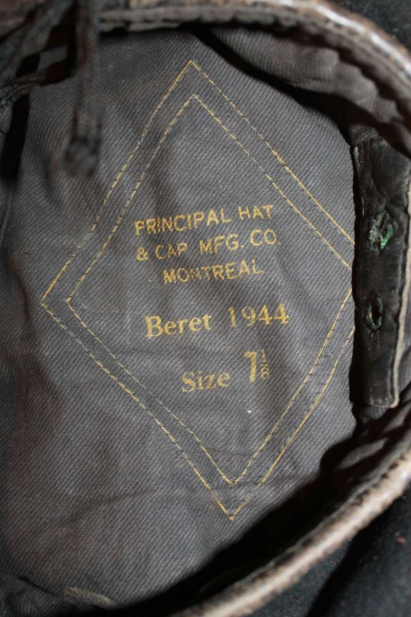 Canadian made black tanker beret Baratt11