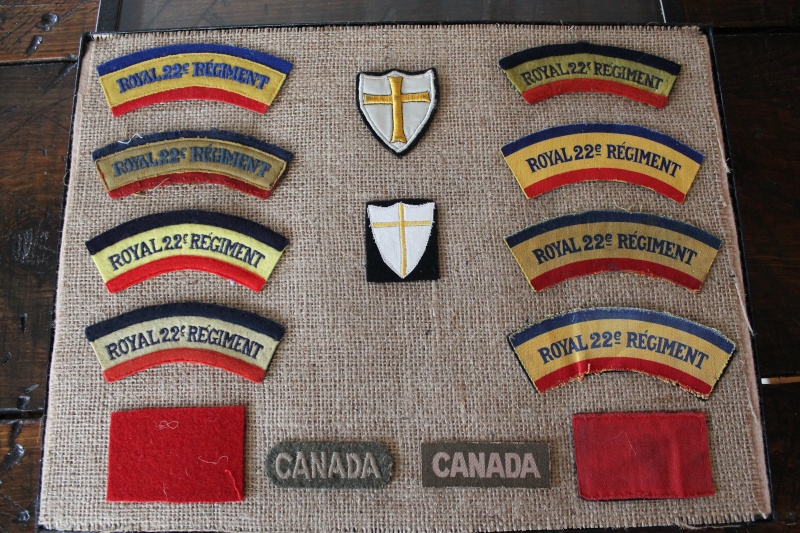 WW2 Royal 22ième Régiment collection flash Patch_10