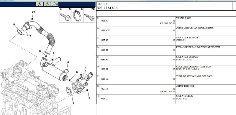 [ ford fusion 1,4 tdci an 2009 ] Ou se situe la vanne egr ? Captur15