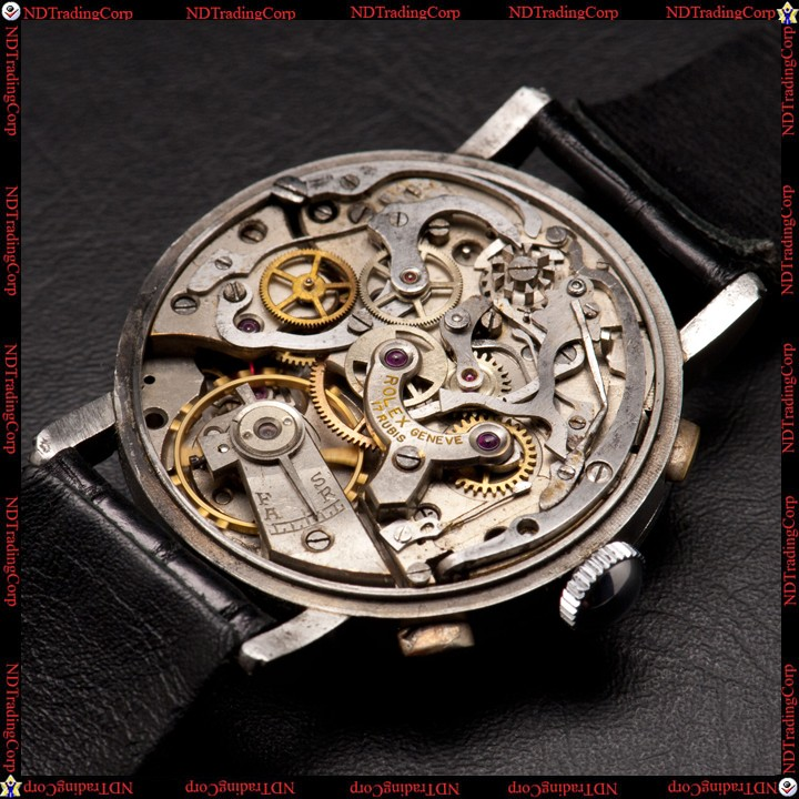PIECE EXCEPTIONNELLE : TRES RARE Rolex chronograph 2 compteurs, anses articulées, référence 2705, numéro 38325,  acier des années 30; toute signée. - Page 3 Rolex-10