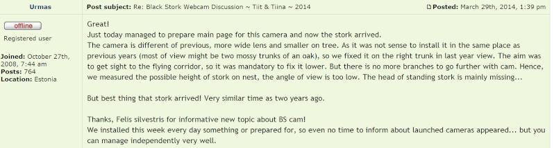 Black Stork Cam 2014 2014-135