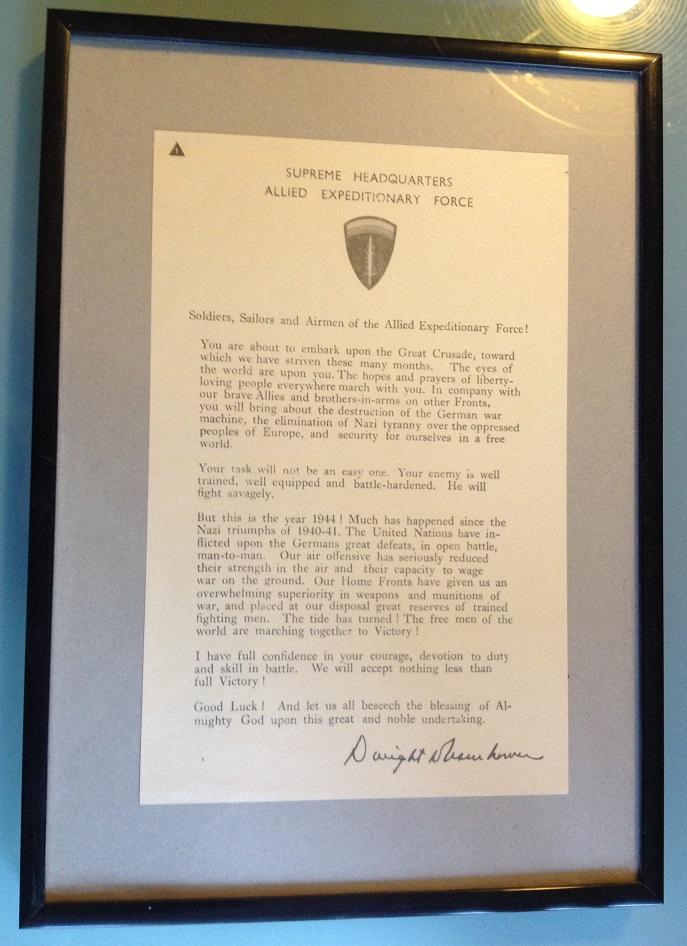 la lettre d'Eisenhower aux soldats participant à Overlord Lettre10