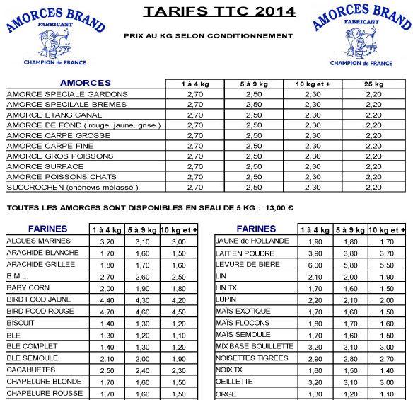 tarifs Amorces Brand 2014 Amorce10