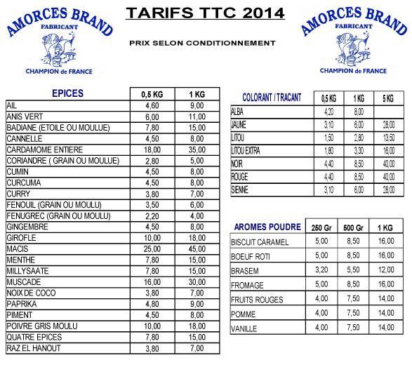 tarifs Amorces Brand 2014 Amorce13