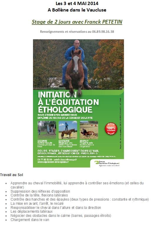 Stage avec Franck PETETIN sur Bollène - Equitation Ethologique Stage_11