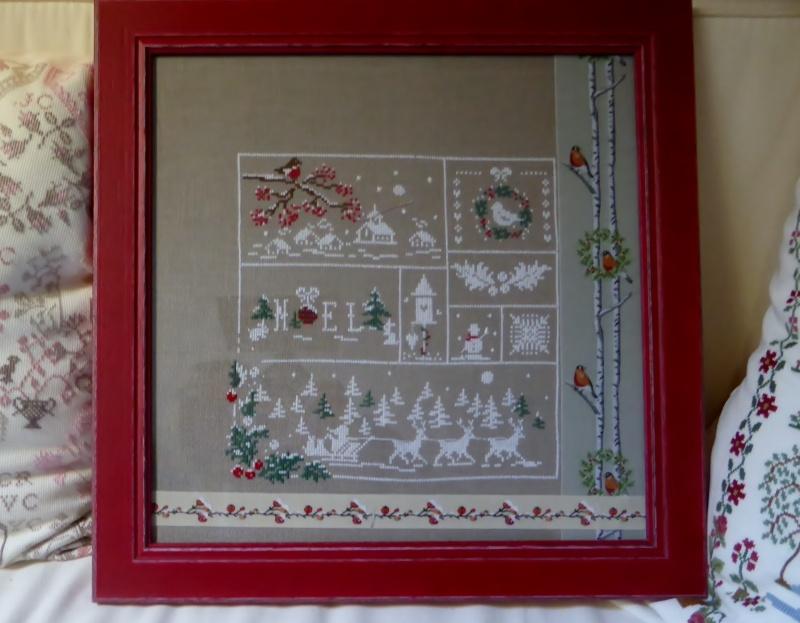 couleur d'étoile Au fil de de Noël 3ème étape brodée 201120 P1000515