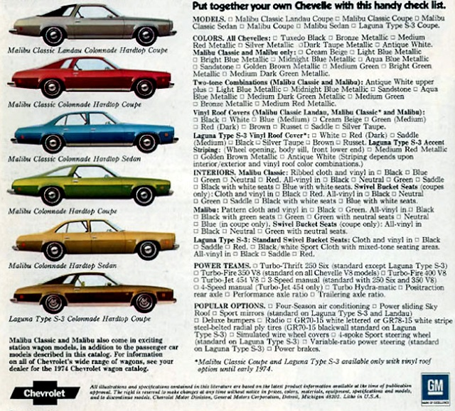 Which 1974 model do you have? 9-01_c11
