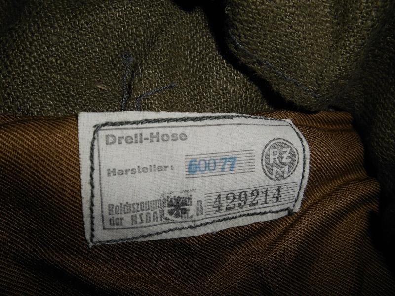 """Drell-Jacke"" d'une ""Adolf Hitler Schule"" (1936-1945) 1910"