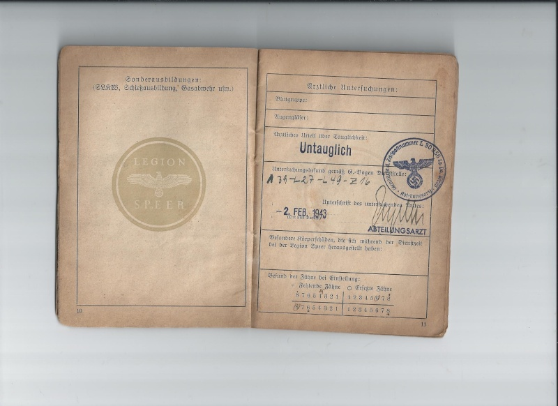 Vos livrets militaires allemands WWII (Soldbuch, Wehrpass..) / Heer-LW-KM-SS... 420