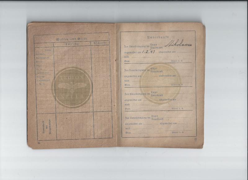 Vos livrets militaires allemands WWII (Soldbuch, Wehrpass..) / Heer-LW-KM-SS... 719