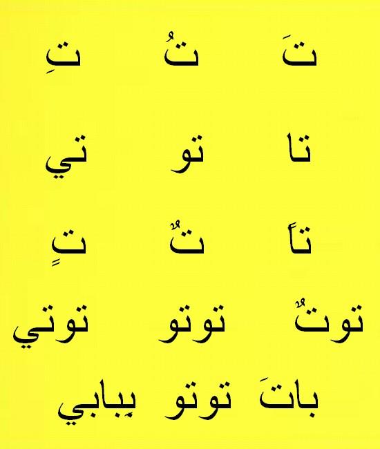 **الحروف   ***الحروف Ouou1110