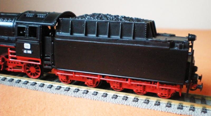 Dampflok 45 012 mit vierachs Öltender. 45_01211