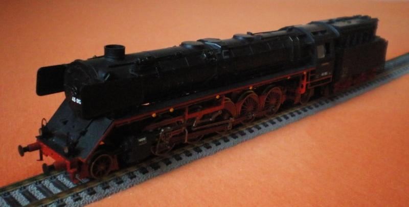 Dampflok 45 012 mit vierachs Öltender. 45_01216