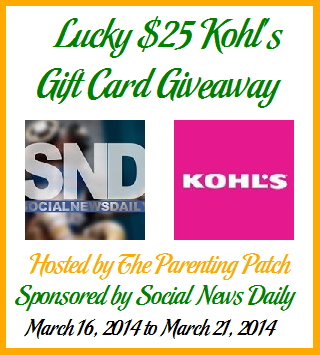 Lucky $25 Kohl's Gift Card Giveaway ends 3/31 2014-010