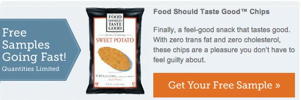 FREE Food Should Taste Good Chips Sample Screen85