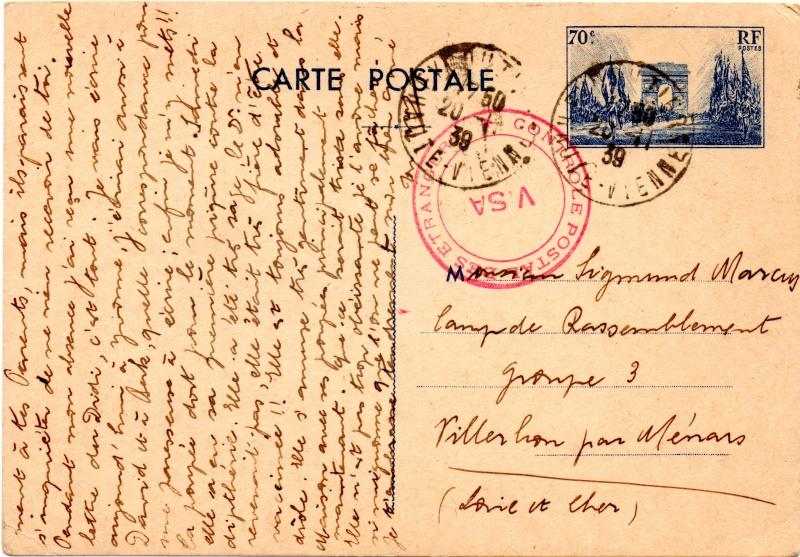 Tarif des cartes postales pendant la Deuxième Guerre mondiale 1939_c10