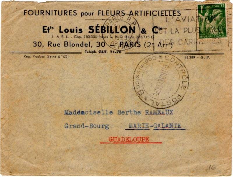 Tarif des lettres pendant la Deuxième Guerre mondiale 1939_i10