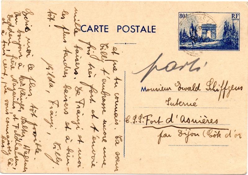 Tarif des cartes postales pendant la Deuxième Guerre mondiale 1940_c14